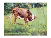 Young Bull in a Meadow, 1881 Fine-Art Print