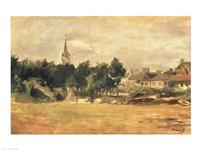 Landscape with a Village Church Fine-Art Print