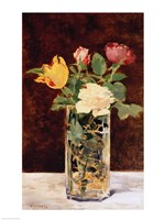 Roses and Tulips in a Vase, 1883 Fine-Art Print