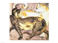 Two Cats - sketch Fine-Art Print