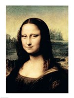 Detail of the Mona Lisa, c.1503-6 Fine-Art Print