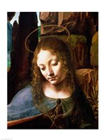 Detail of the Head of the Virgin, from The Virgin of the Rocks Fine-Art Print