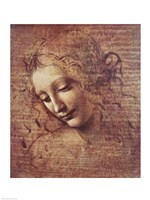 Head of a Young Woman with Tousled Hair Fine-Art Print