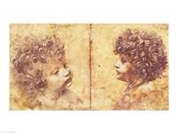 Study of a child's head Fine-Art Print