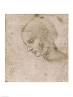Head of a Young Woman or Head of the Virgin Fine-Art Print