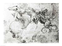 Battle between a Rider and a Dragon, c.1482 Fine-Art Print