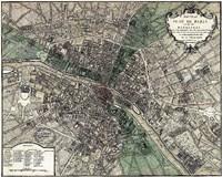Plan de Paris - green Fine-Art Print