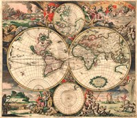 World Map 1689 Fine-Art Print
