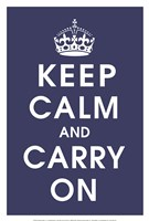 Keep Calm (navy) Fine-Art Print