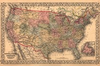 Map of the United States, 1867 Fine-Art Print