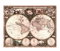 World Map, 1660 Fine-Art Print