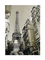 Eiffel Tower Street View #1 Fine-Art Print