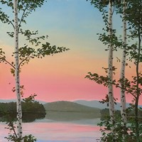 Cooper Sunset Birches Fine-Art Print