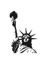 Statue of Liberty (outline) Fine-Art Print