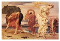 Greek Girls Picking up Pebbles Fine-Art Print