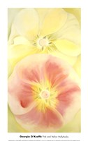 Pink and Yellow Hollyhocks, 1952 Fine-Art Print