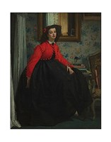 Portrait of Mademoiselle, called Girl with Red Vest, February 1864 Fine-Art Print