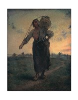 The Norman Milkmaid in Gréville, 1874 Fine-Art Print