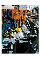 Blue Orange Layers 3 Fine-Art Print