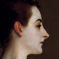 Madame X (head detail) Fine-Art Print