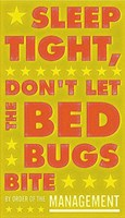 Sleep Tight, Don't Let the Bedbugs Bite (green & orange) Fine-Art Print