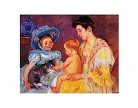 Children Playing with a Cat Fine-Art Print