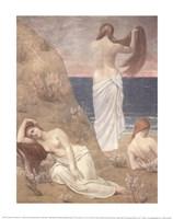 Young Women at the Sea Shore (petite version) Fine-Art Print