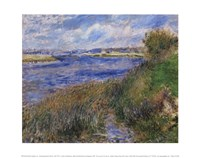 La Seine a Champrosay - Banks of the Seine River at Champrosay, 1876 Fine-Art Print