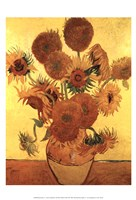 Sunflowers on Gold, 1888 Fine-Art Print
