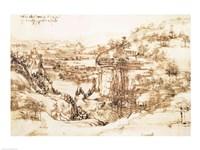 Arno Landscape, 5th August, 1473 Fine-Art Print