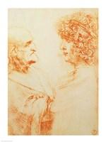 Two Heads in Profile, c.1500 Fine-Art Print