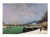 The Seine at the Pont d'Iena, Winter, 1875 Fine-Art Print