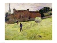 Haymaking in Brittany, 1888 Fine-Art Print