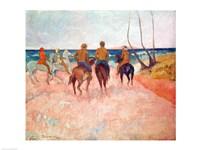 Horseman on the Beach Fine-Art Print