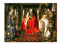 Madonna and Child with Canon Joris van der Paele, 1436 Fine-Art Print