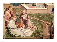 The Fountain of Grace, detail of three angel musicians Fine-Art Print