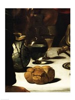 The Supper at Emmaus, Detail 1601 (bread) Fine-Art Print