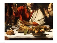 The Supper at Emmaus, Detail 1601 Fine-Art Print