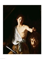 David with the Head of Goliath, 1606 Fine-Art Print