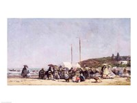 The Beach at Trouville, 1864 Fine-Art Print