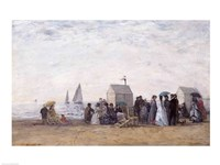 The Beach at Trouville, 1867 Fine-Art Print