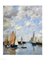 The Jetty at High Tide, Trouville Fine-Art Print