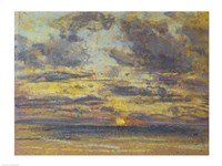 Study of the Sky with Setting Sun, c.1862-70 Fine-Art Print