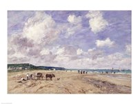 The Beach at Tourgeville, 1893 Fine-Art Print
