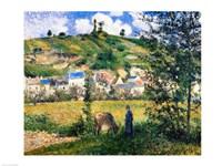 Landscape at Chaponval, 1880 Fine-Art Print