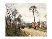 The Road from Louveciennes, 1870 Fine-Art Print