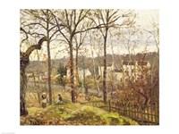 Winter Landscape at Louveciennes, c.1870 Fine-Art Print