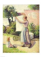 Woman Hanging up the Washing, 1887 Fine-Art Print
