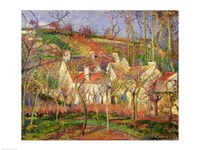 The Red Roofs, or Corner of a Village, Winter, 1877 Fine-Art Print