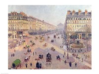 The Avenue de L'Opera, Paris, Sunlight, Winter Morning, c.1880 Fine-Art Print